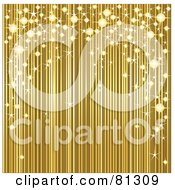 Royalty Free RF Clipart Illustration Of A Golden Background With Sparkly Lights