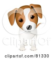 Royalty Free RF Clipart Illustration Of A Curious Adorable Jack Russell Puppy Dog by Oligo