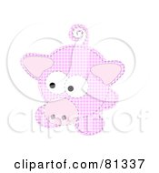Royalty Free RF Clipart Illustration Of A Pink Patchwork Piggy