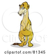 Royalty Free RF Clipart Illustration Of A Curious Meerkat Standing by Snowy