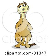 Royalty Free RF Clipart Illustration Of A Happy Meerkat Standing On His Hind Legs by Snowy