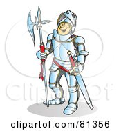 Royalty Free RF Clipart Illustration Of A Happy Knight In Silver Armor by Snowy