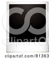 Royalty Free RF Clipart Illustration Of A Blank Black Polaroid Instant Photo