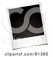 Royalty Free RF Clipart Illustration Of A Blank Black Polaroid Instant Picture