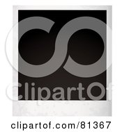 Royalty Free RF Clipart Illustration Of A Blank Black Polaroid Picture by michaeltravers
