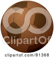Grungy Brown Leather Soccer Ball