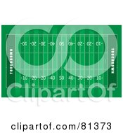 Royalty Free RF Clipart Illustration Of A Green American Football Field Aerial by michaeltravers #COLLC81373-0111