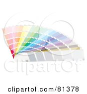 Royalty Free RF Clipart Illustration Of A Fanned Display Of Color Samples Version 1