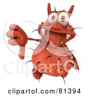 Royalty Free RF Clipart Illustration Of A 3d Rodney Germ Character Giving The Thumbs Down by Julos