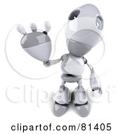 Royalty Free RF Clipart Illustration Of A 3d Robot Boy Character Waving Hello