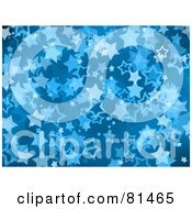 Royalty Free RF Clipart Illustration Of A Blue Starry Background