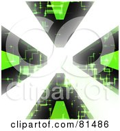 Royalty Free RF Clipart Illustration Of A Bright Light Shooting Through A Circuit Vortex by Arena Creative