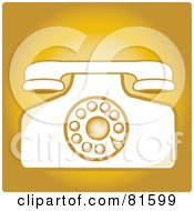 Royalty Free RF Clip Art Illustration Of A Vintage Rotary Desk Telephone Version 3