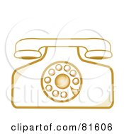 Royalty Free RF Clipart Illustration Of A Vintage Rotary Desk Telephone Version 4