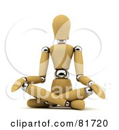 3d Wood Mannequin Sitting And Doing Yoga