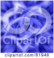 Royalty Free RF Clipart Illustration Of A Blue Fractal Flower Like Tunnel by oboy
