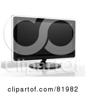 Royalty Free RF Clipart Illustration Of A 3d Modern Black Television Or Computer Screen With Clear Edges by Tonis Pan