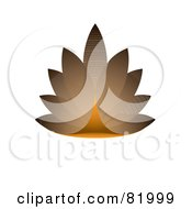 Royalty Free RF Clipart Illustration Of An Aged 3d Eco Leaf Design by michaeltravers