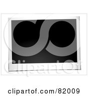 Royalty Free RF Clipart Illustration Of A Blank Instant Landscape Polaroid Photo Picture