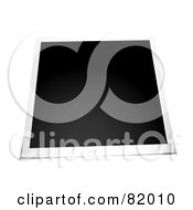 Royalty Free RF Clipart Illustration Of A Blank Instant Polaroid Photo Picture