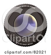 Royalty Free RF Clipart Illustration Of A Foggy Camera Zoom Lens by michaeltravers
