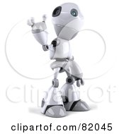 Royalty Free RF Clipart Illustration Of A 3d Robot Boy Character Waving by Julos
