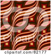 Royalty Free RF Clipart Illustration Of A Vintage Retro Wave And Circle Pattern Background