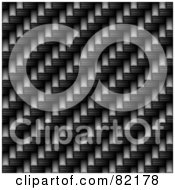 Royalty Free RF Clipart Illustration Of A Seamless Dark Carbon Fiber Weave Background by Arena Creative