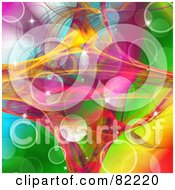 Royalty Free RF Clipart Illustration Of A Gradient Colorful Glittery Sparkle Background With A Paper Texture by MacX