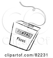 Royalty Free RF Clipart Illustration Of A Container Of Dental Floss by Pams Clipart