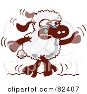Royalty Free RF Clipart Illustration Of A Cartoon Sad Sheep Crying by Zooco