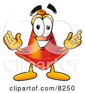 Clipart Picture Of A Traffic Cone Mascot Cartoon Character With Welcoming Open Arms