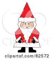 Santa Standing And Wearing A Conical Hat