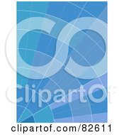 Royalty Free RF Clipart Illustration Of A Blue Segmented Graph Background