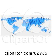 Royalty Free RF Clipart Illustration Of A 3d Blue Human Network Map by Tonis Pan
