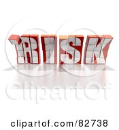 Royalty Free RF Clipart Illustration Of A Crumbling 3d Word Risk Made Of Blocks Leaning Forward Version 1 by Tonis Pan