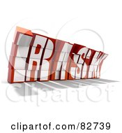 Royalty Free RF Clipart Illustration Of A Crumbling 3d Word Risk Made Of Blocks Leaning Forward Version 2 by Tonis Pan