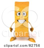 Royalty Free RF Clipart Illustration Of A 3d Frite French Fry Character Standing And Facing Front by Julos