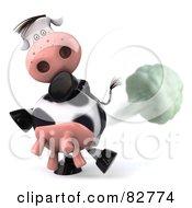 Royalty Free RF Clip Art Illustration Of A Flatulent 3d Horton The Cow Farting