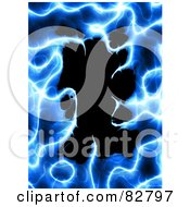 Royalty Free RF Clipart Illustration Of An Electric Blue Plasma Border Around Black