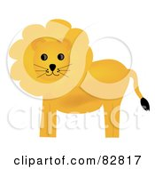Royalty Free RF Clipart Illustration Of A Golden Lion With A Fluffy Mane
