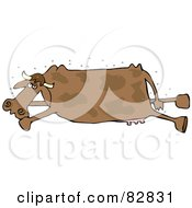 Royalty Free RF Clipart Illustration Of A Swarm Of Flies Around A Stinky Dead Brown Cow by djart
