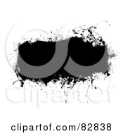 Royalty Free RF Clipart Illustration Of A Black Grunge Text Box Of An Ink Splatter