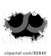 Royalty Free RF Clipart Illustration Of A Black Text Box Made With Black Paint From Roller Brushes by michaeltravers
