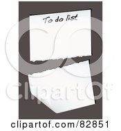 Royalty Free RF Clipart Illustration Of A Torn To Do List Page On Brown by michaeltravers
