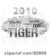 Royalty Free RF Stock Illustration Of A Collage Of Words 2010 Tiger Year Version 1