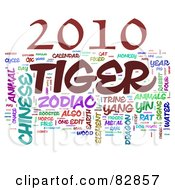 Royalty Free RF Stock Illustration Of A Collage Of Words 2010 Tiger Year Version 2