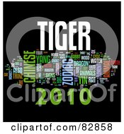 Royalty Free RF Stock Illustration Of A Collage Of Words 2010 Tiger Year Version 3