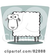 Royalty Free RF Clipart Illustration Of A Female Sheep With A Square Body