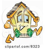 House Mascot Cartoon Character Running by Toons4Biz